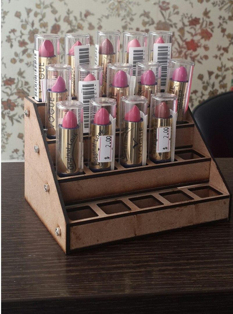 Laser Cut Lipstick Stand Free CDR Vectors Art