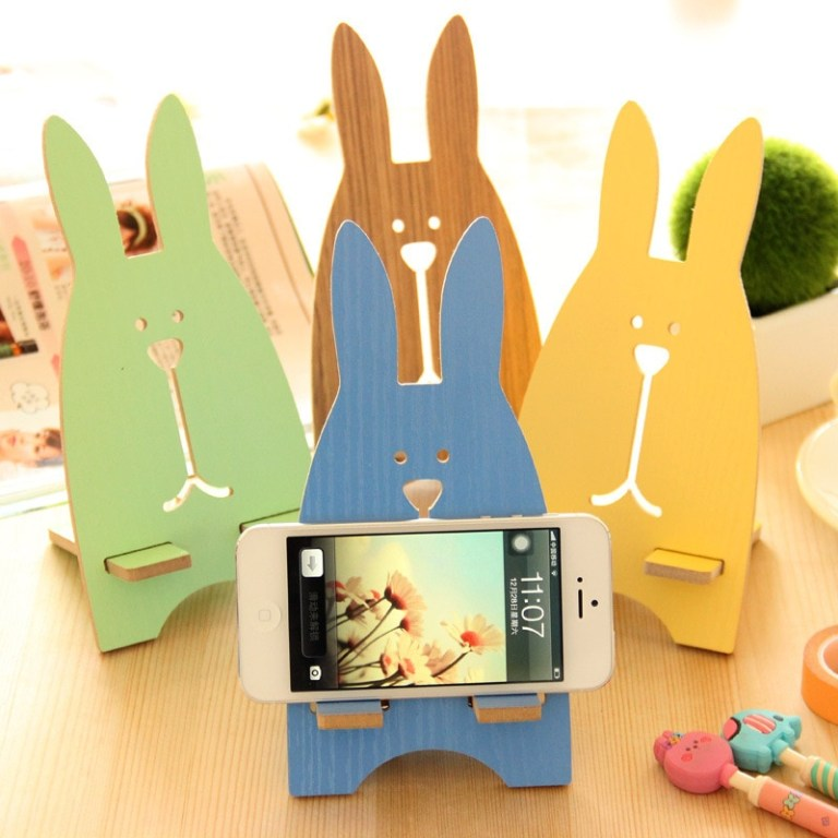 Laser Cut Phone Stand Rabbit Free CDR Vectors Art