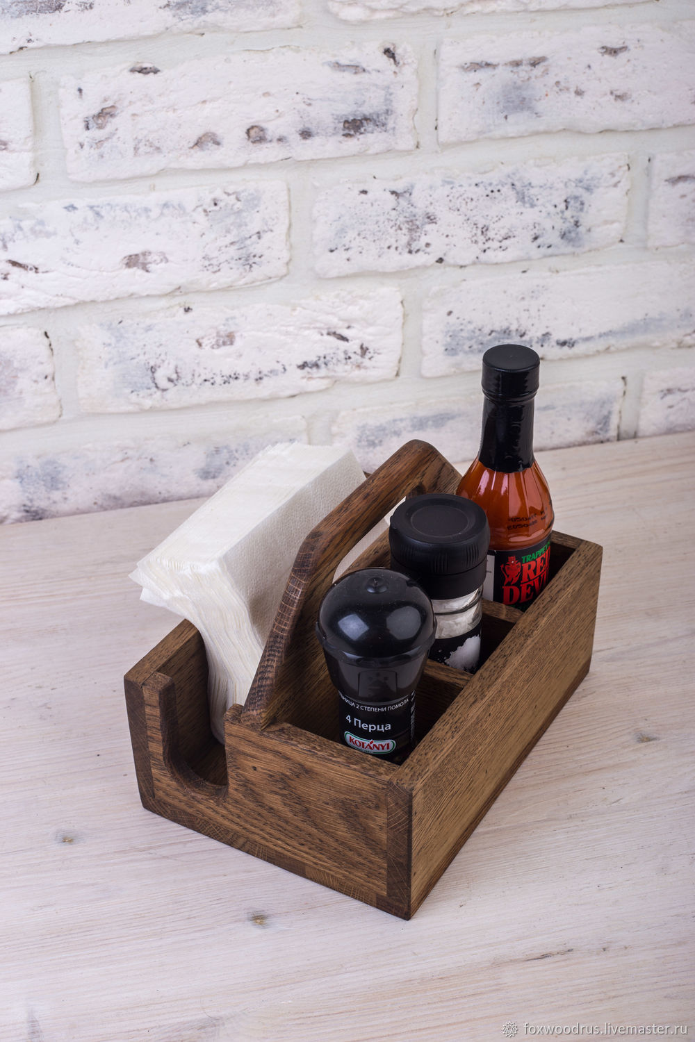 Laser Cut Stand For Spices And Napkins With Handle Free CDR Vectors Art