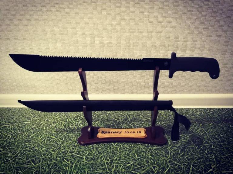 Laser Cut Sword Stand Free CDR Vectors Art