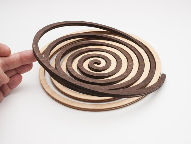 Laser Cut Archimedes Spiral Stand Free DXF File