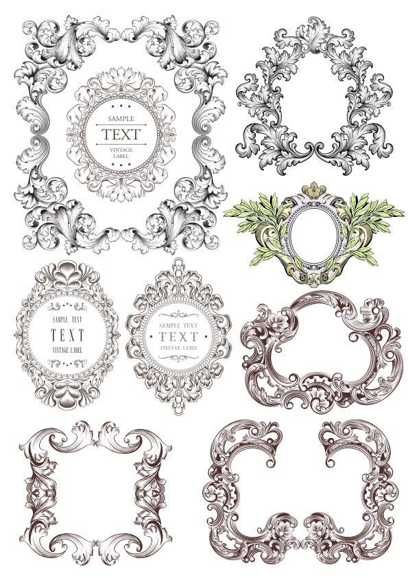 Baroque Frames Set Free CDR Vectors Art