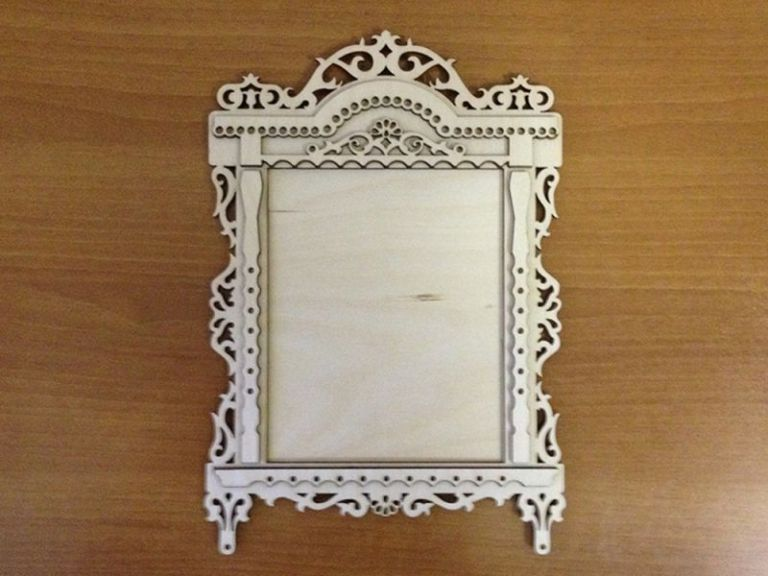 Laser Cut Layout For Photo Frame Made Of Plywood Free CDR Vectors Art