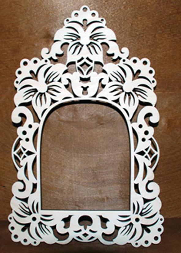 Laser Cut Vintage Mirror Frame Free CDR Vectors Art