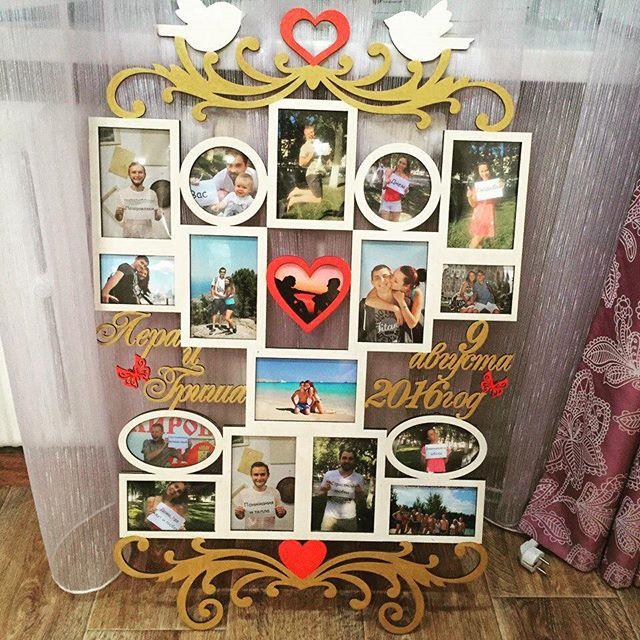 Laser Cut Wedding Photo Frame Template Free CDR Vectors Art