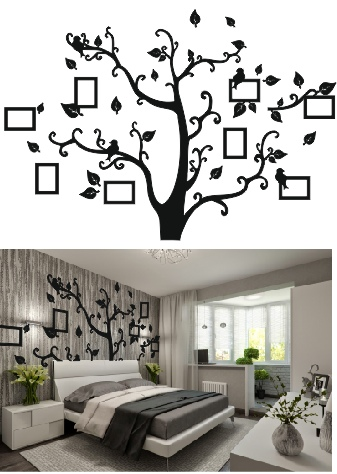 Tree Photo Frame Laser cutting Free CDR Vectors Art