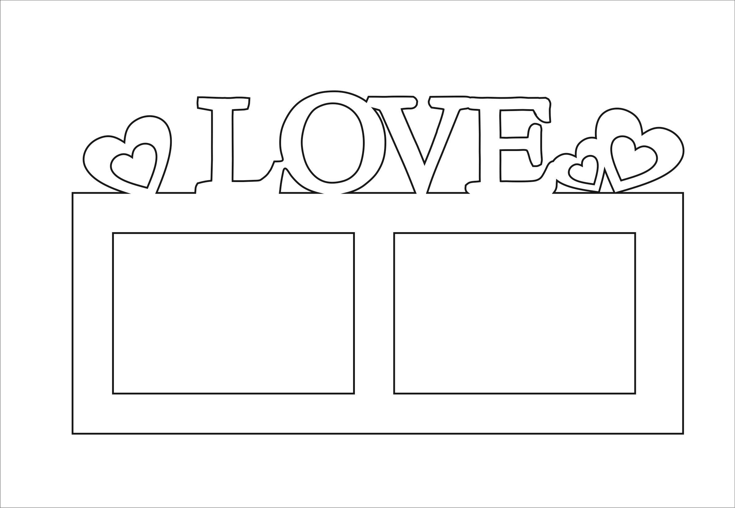 Laser Cut Love Ramka Na 2 Foto Free CDR Vectors Art