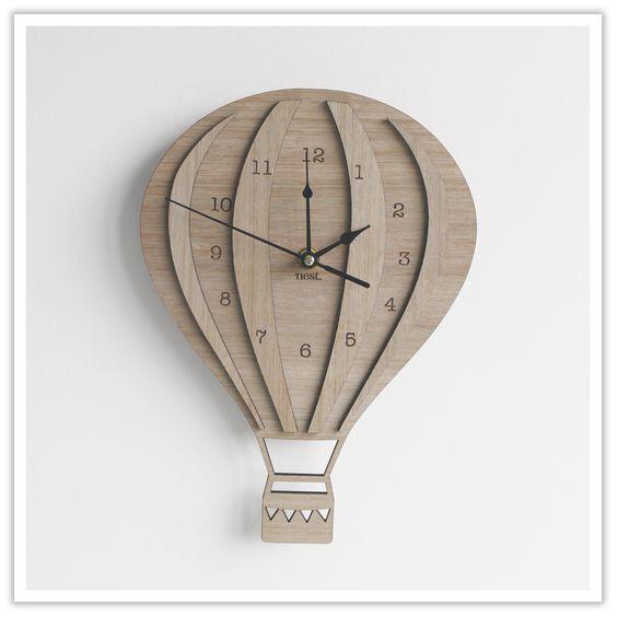 Ballon Clock Laser Cut Free CDR Vectors Art