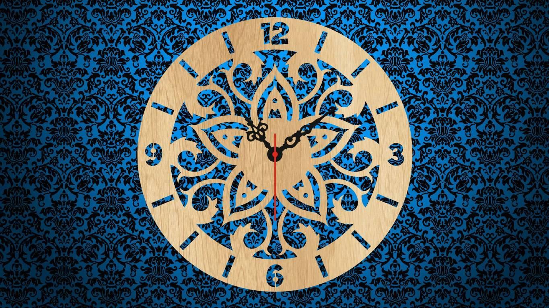 Wooden Clock Laser Cut Free CDR Vectors Art