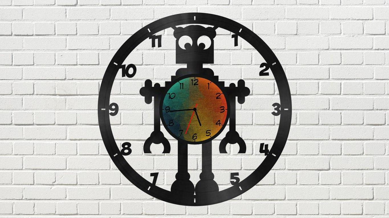 Laser Cut Robot Clock Free CDR Vectors Art