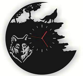Laser Cut Vinyl Watches Wolf Free CDR Vectors Art