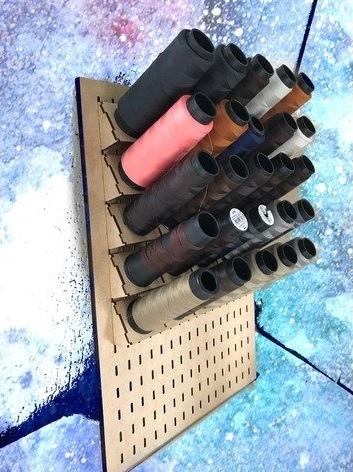 Laser Cut Organizer For Threads Free CDR Vectors Art
