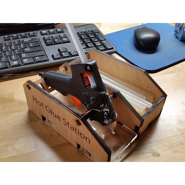 Laser Cut Glue Gun Holder Free CDR Vectors Art