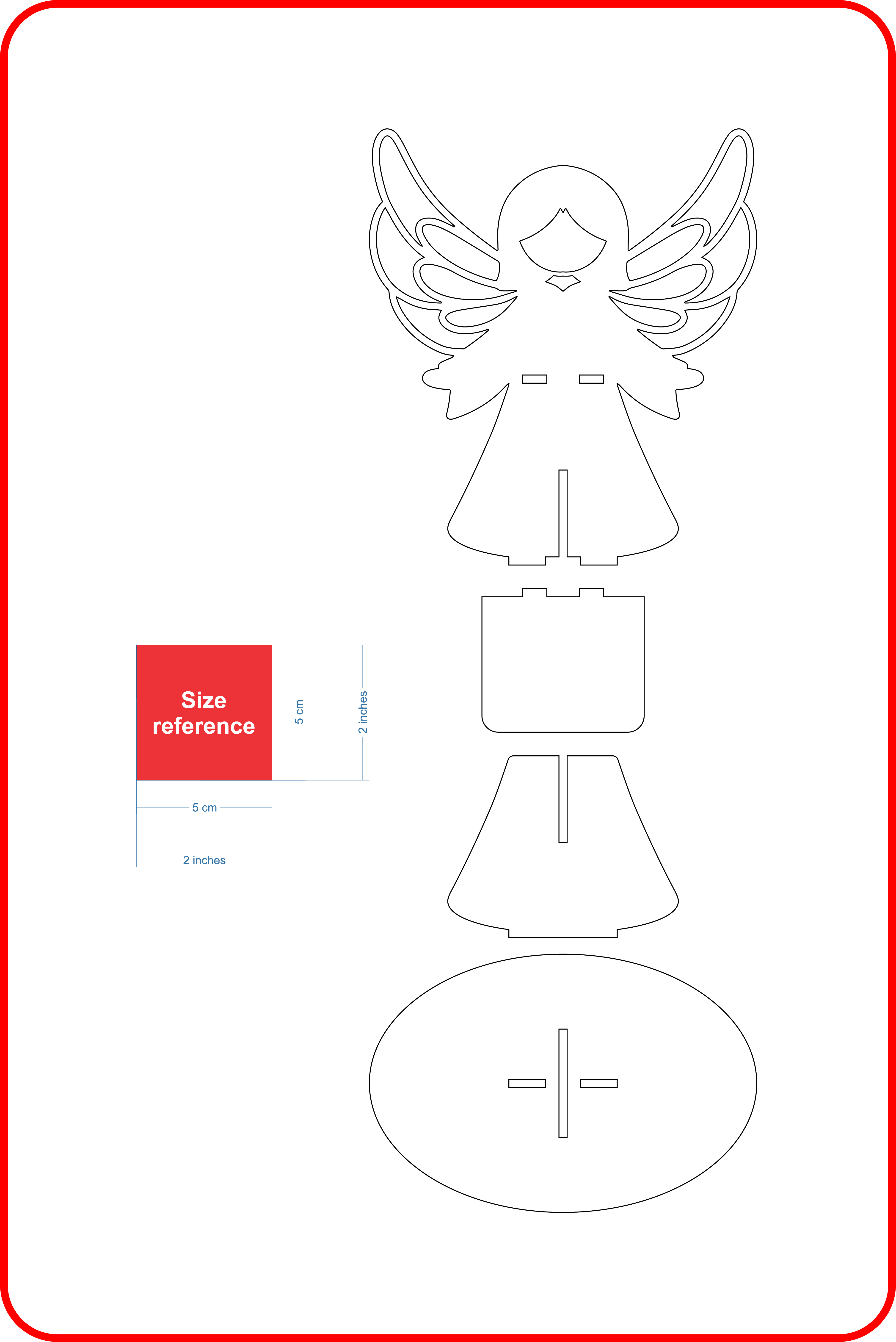 Angel Candle Holder EPS Vector
