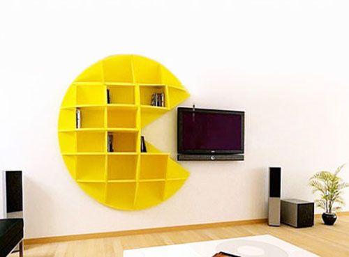 Laser Cut Pacman Shelf Free CDR Vectors Art