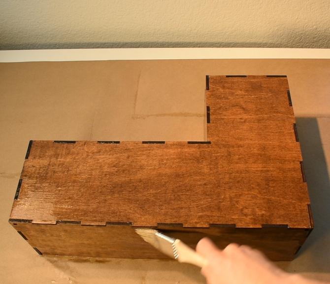 Tetris Modular Book Shelf Laser Cut Free DXF File