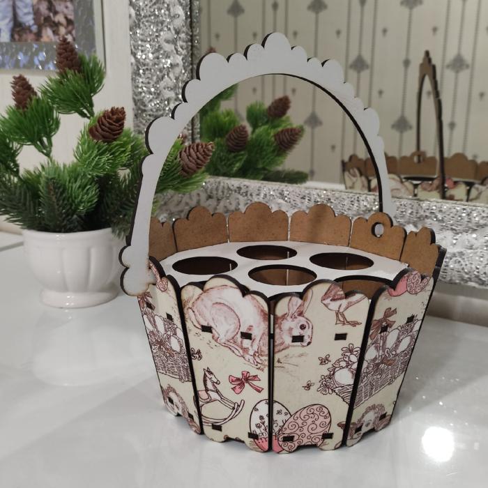 Easter Bucket Decor Easter Basket Free CDR Vectors Art