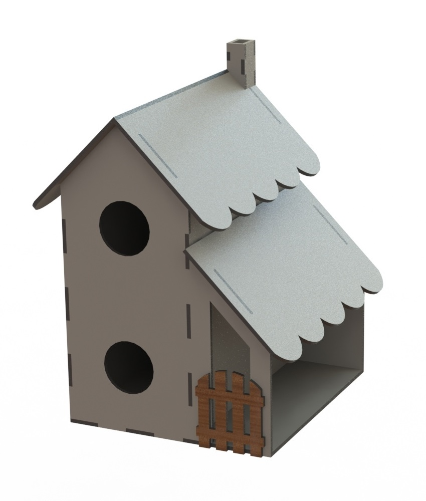 Laser Cut Bird Feeder Bird Nest House Shaped Bird House Free CDR Vectors Art
