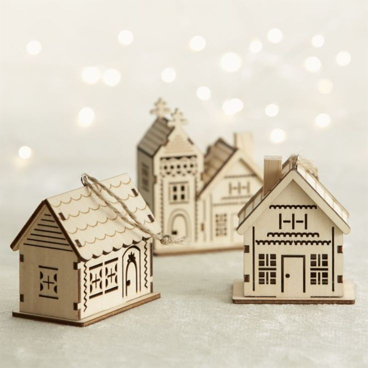 Laser Cut Decorative Wooden House Model Free CDR Vectors Art