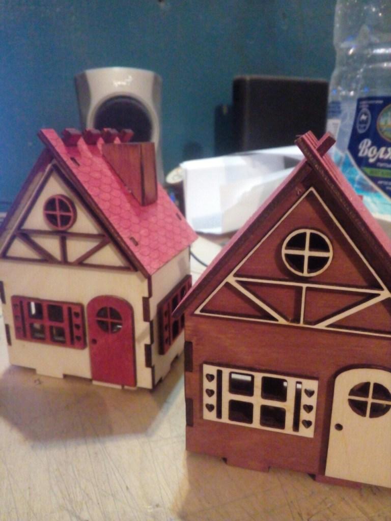 Laser Cut Decorative Wooden House Free CDR Vectors Art