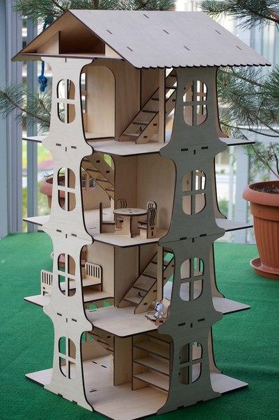 Laser Cut House 5 Floors 3d Puzzle Free CDR Vectors Art