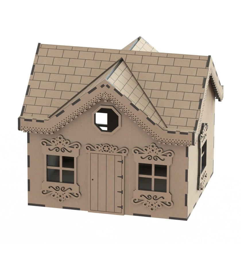 Laser Cut Modern Wooden Toy House Wooden Doll House Free CDR Vectors Art