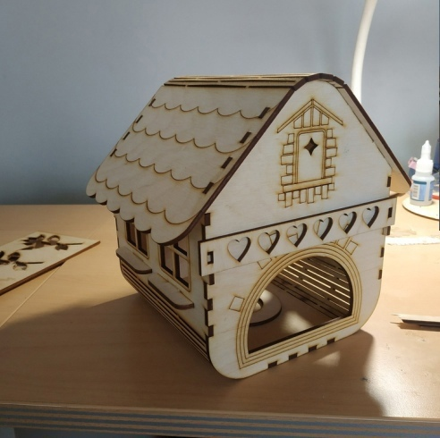 Laser Cut Wooden Bird Cage Decorative Bird House Free CDR Vectors Art