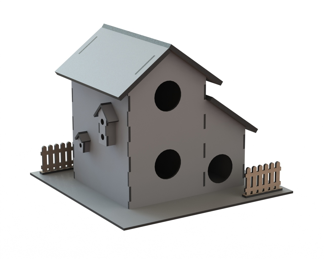 Laser Cut Wooden Bird House Birds Nest Box Free CDR Vectors Art