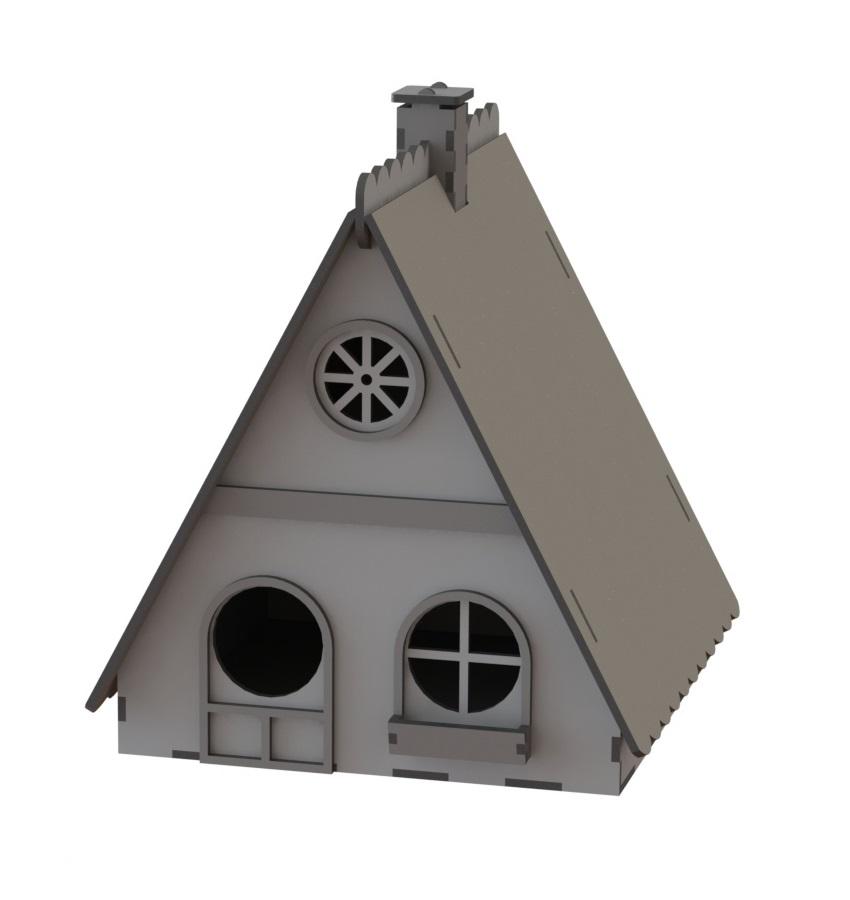 Laser Cut Wooden Nest Box Birds House Birds Shelter Free CDR Vectors Art