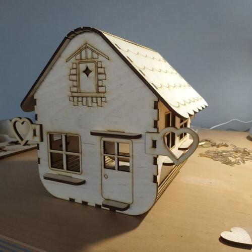 Wooden Bird Cage Decorative Bird House Laser Cut Free CDR Vectors Art