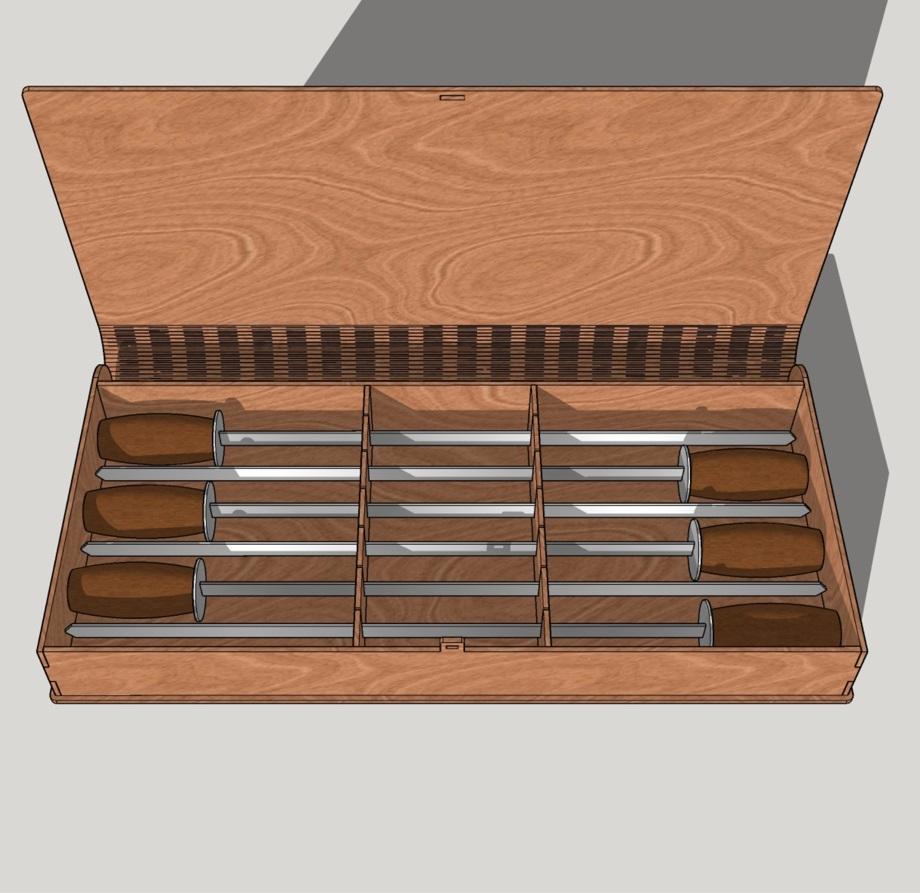 Bbq Skewers Case Wood Storage Box Laser Cut Free CDR Vectors Art