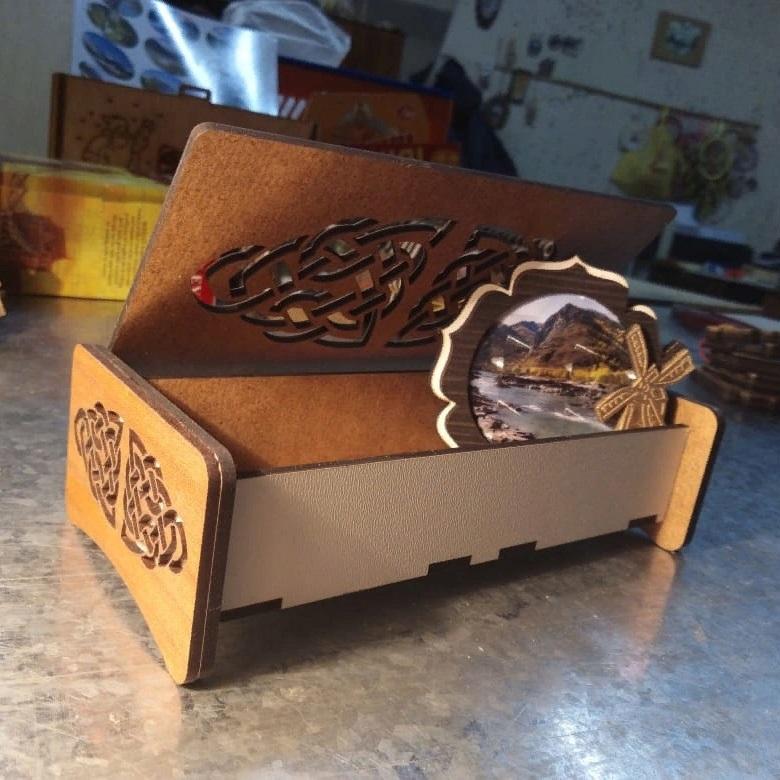 Decorative Gift Box Hdf 3mm 160x60x30mm Laser Cut Free CDR Vectors Art