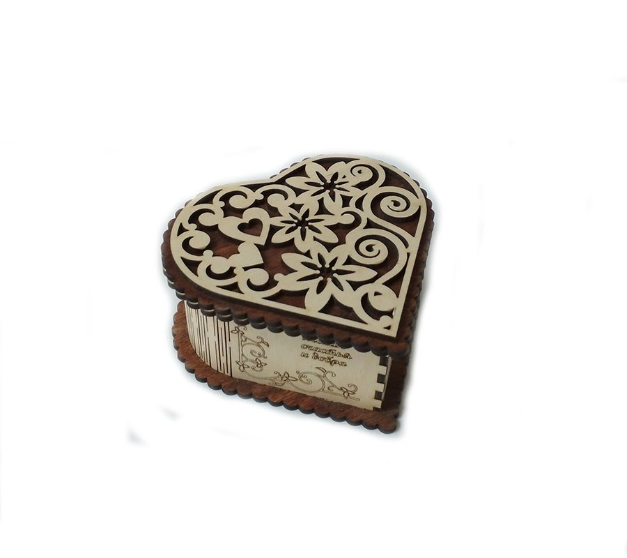 Heart Shaped Gift Box Plan For Laser Cut Free CDR Vectors Art