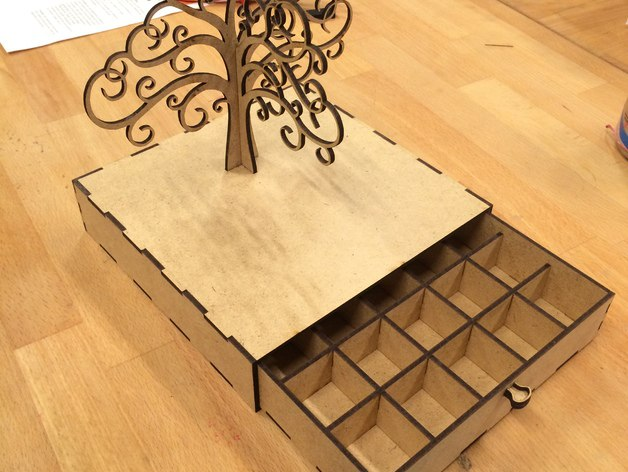 Jewelry Box For Laser Cut Free CDR Vectors Art