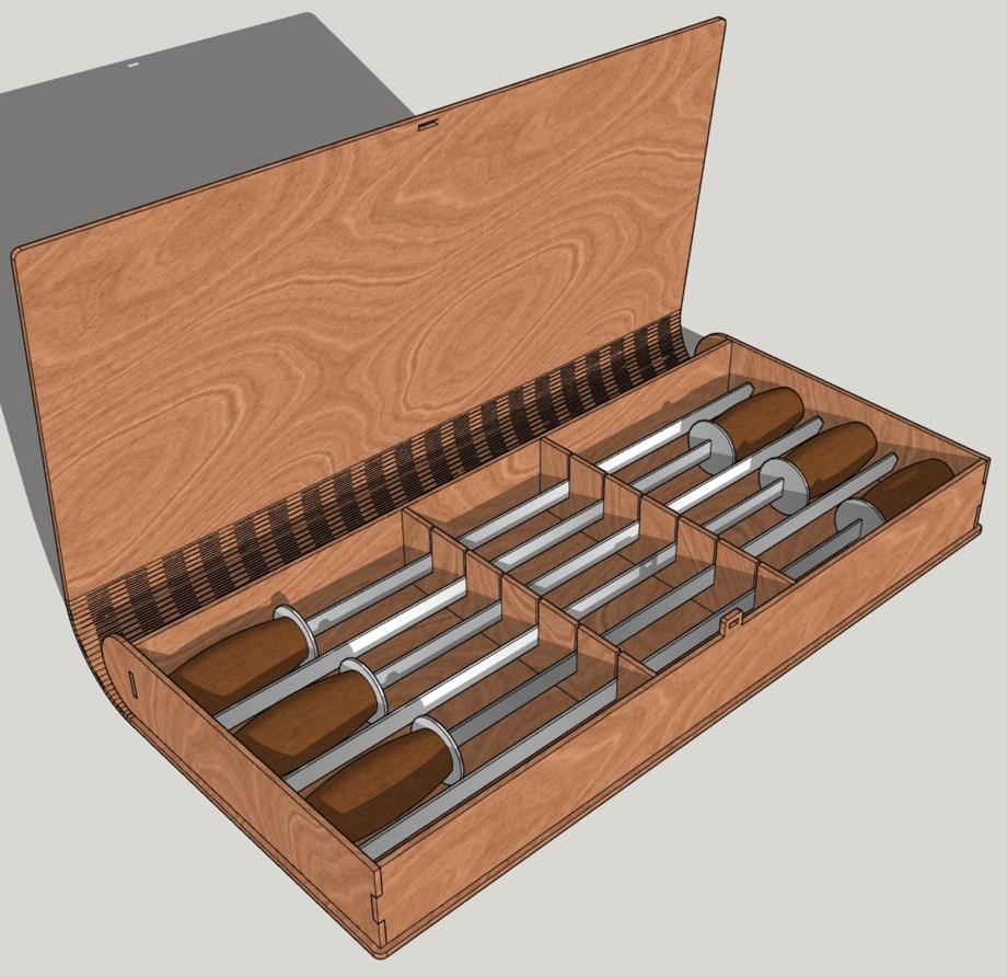 Laser Cut Bbq Skewers Case Wood Storage Box Free CDR Vectors Art