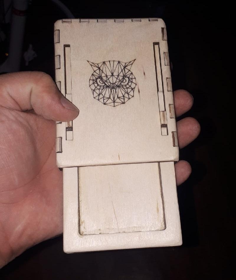 Laser Cut Cigarette Case Wooden Cigarette Box Free CDR Vectors Art