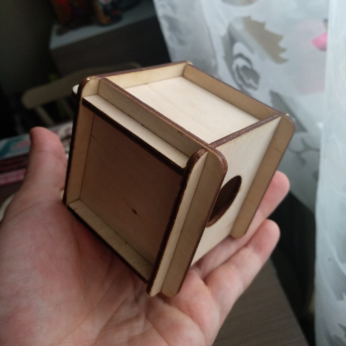 Laser Cut Plywood Rabbit Box Free CDR Vectors Art