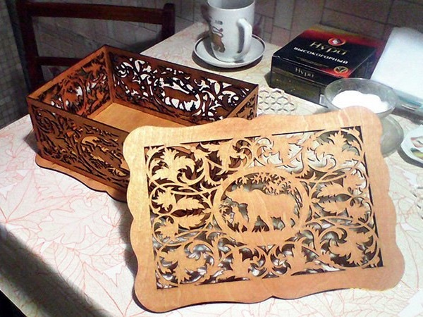 Decorative Gift Box For Laser Cutting Free CDR Vectors Art
