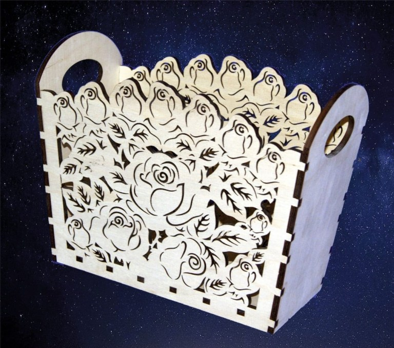 Flower Design Box Drawing For Laser Cutting Free CDR Vectors Art