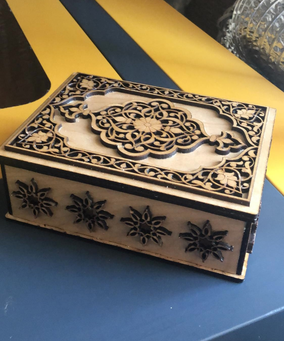 Intricate Jewelry Box 4mm For Laser Cutting Free CDR Vectors Art