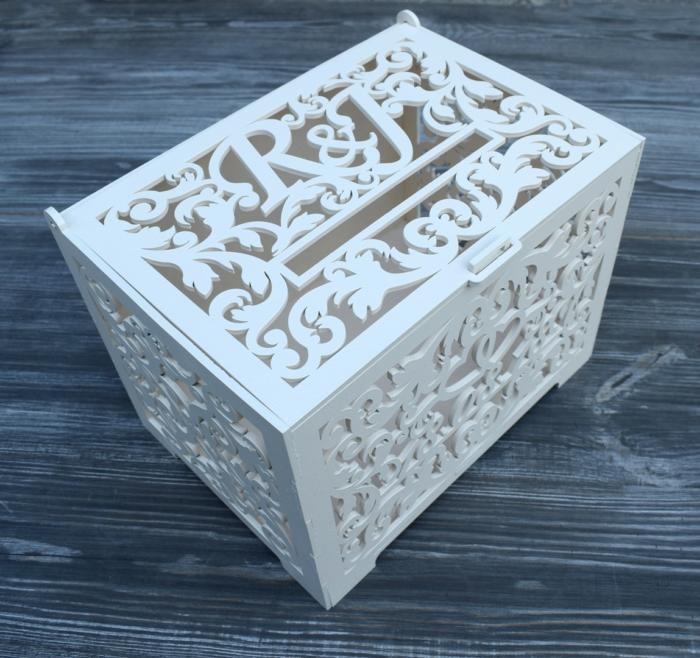 Laser Cut Wedding Card Box Party Decorations Wooden Wedding Money Box Free CDR Vectors Art