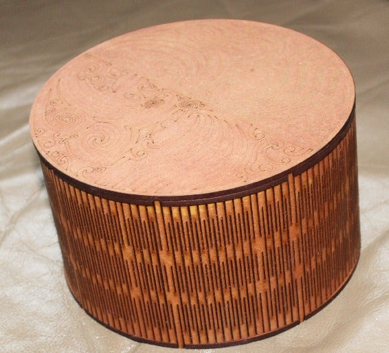 Round Box 3mm Mdf 150 Diameter For Laser Cutting Free CDR Vectors Art