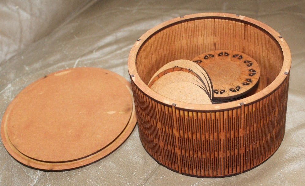 Wooden Round Box 3mm Mdf 150 Diameter For Laser Cutting Free CDR Vectors Art