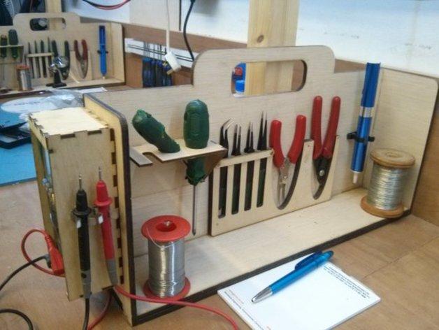 Organayzer Dlya Elektronschika For Laser Cut Free CDR Vectors Art