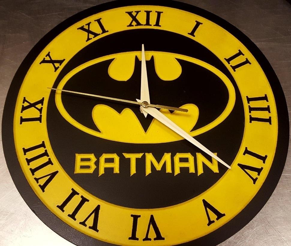Batman Clock 12 Inch For Laser Cut Free DXF File