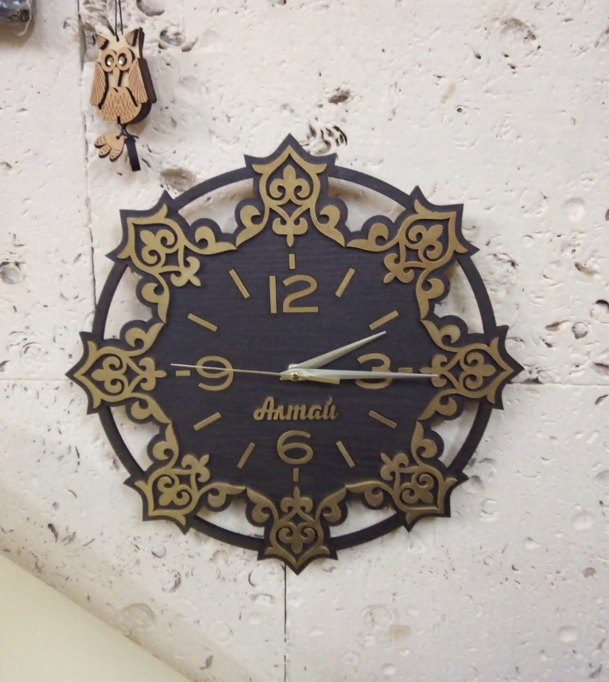 Decor Wooden Wall Clock For Laser Cutting Free DXF File