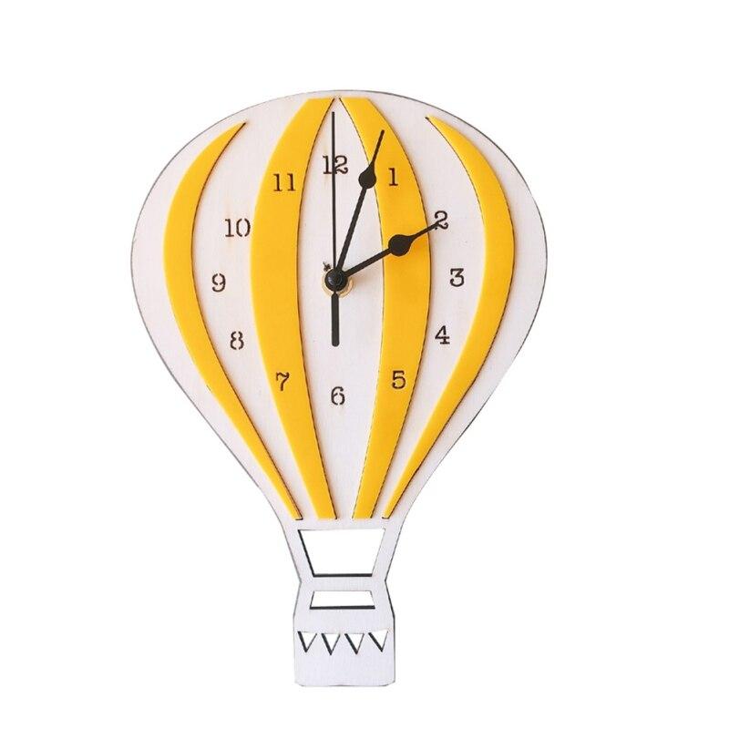 Air Balloon Wall Clock Kids Room Wall Decor For Laser Cutting Free CDR Vectors Art