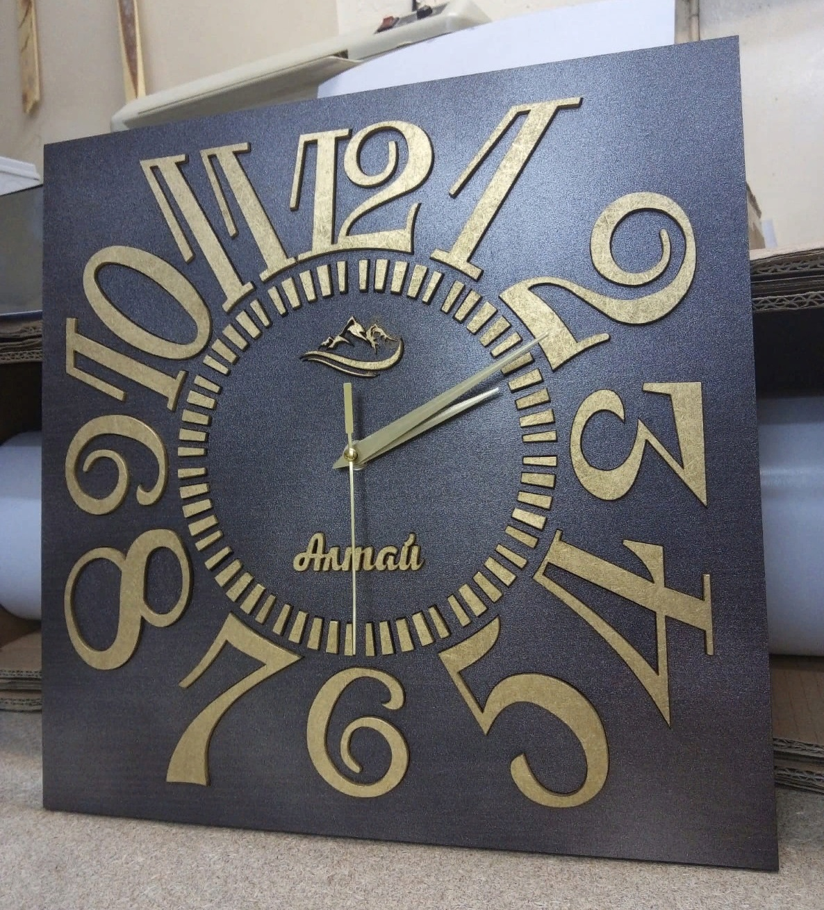 Classic Wall Clock For Laser Cutting Free CDR Vectors Art
