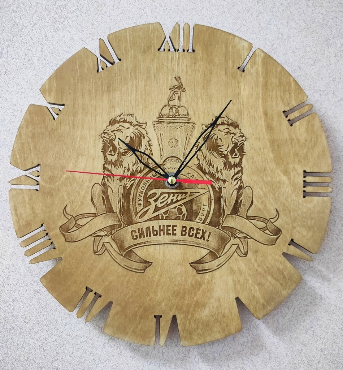 Fc Zenit Saint Petersburg Wall Clock For Laser Cut Free CDR Vectors Art