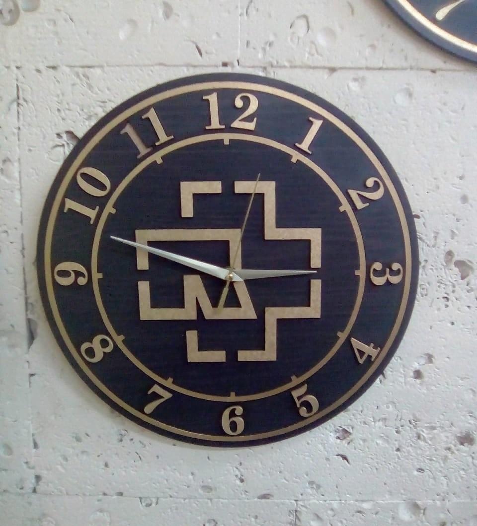 Laser Cut Beautiful Rammstein Clock Free CDR Vectors Art